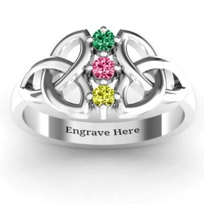 Sláine Celtic Knot Ring - Name My Jewellery