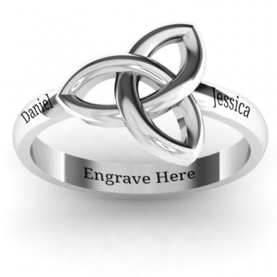 Sinéad Celtic Knot Ring - Name My Jewellery