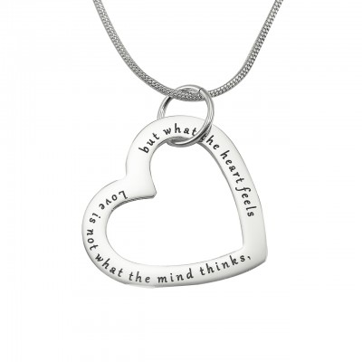 Personalised Always in My Heart Necklace - Sterling Silver - Name My Jewellery