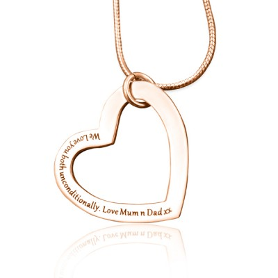 Personalised Always in My Heart Necklace - 18ct  Rose Gold Plated - Name My Jewellery