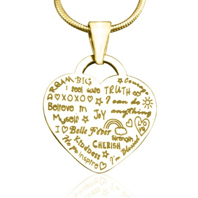 Personalised Heart of Hope Necklace - 18ct Gold Plated - Name My Jewellery