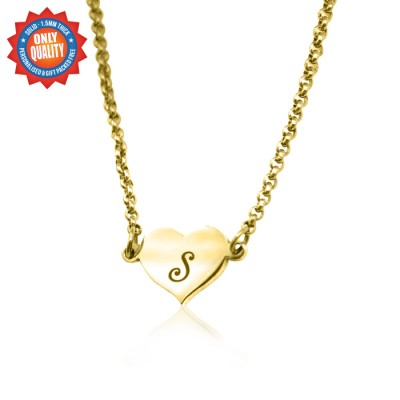 Personalised Precious Heart - 18ct Gold Plated - Name My Jewellery