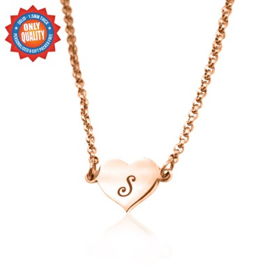 Personalised Precious Heart - 18ct Rose Gold Plated - Name My Jewellery