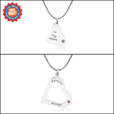 Personalised Mothers Heart Pendant Necklace Set - Name My Jewellery