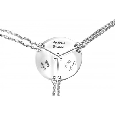 Personalised Meet at the Heart Triple - Three Personalised Necklaces - Name My Jewellery