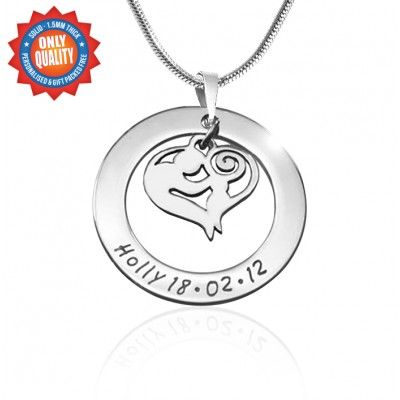 Personalised Mothers Love Necklace - Sterling Silver - Name My Jewellery