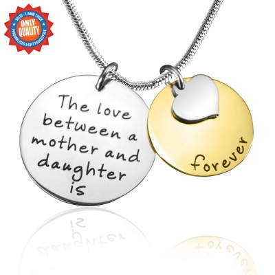 Personalised Mother Forever Necklace - Two Tone - Gold  Silver - Name My Jewellery