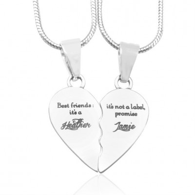 Personalised My Bestie Two Personalised Sterling Silver Necklaces - Name My Jewellery
