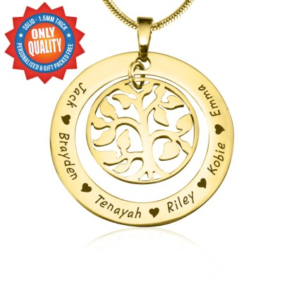 Personalised My Family Tree Necklace - 18ct Gold Plated - Name My Jewellery
