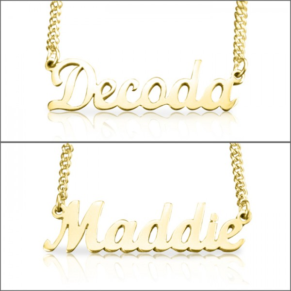 3ed1af73d5fbb Personalised Name Necklace - 18ct Gold Plated - Name My Jewellery