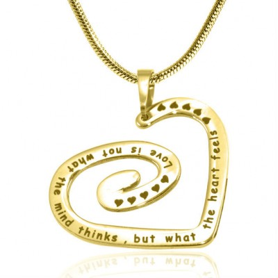 Personalised Swirls of My Heart Necklace - 18ct Gold Plated - Name My Jewellery