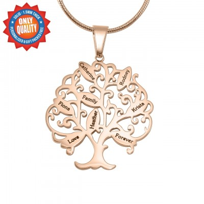 Personalised Tree of My Life Necklace 8 - 18ct Rose Gold Plated - Name My Jewellery