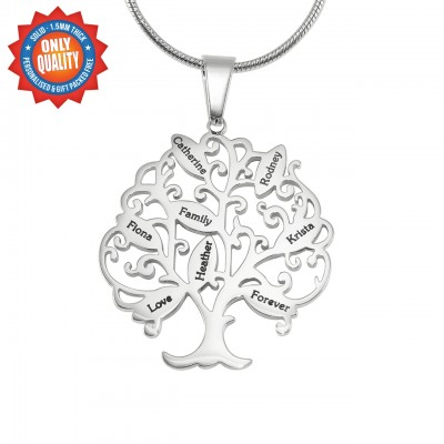 Personalised Tree of My Life Necklace 8 - Sterling Silver - Name My Jewellery