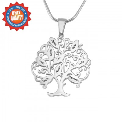 Personalised Tree of My Life Necklace 9 - Sterling Silver - Name My Jewellery