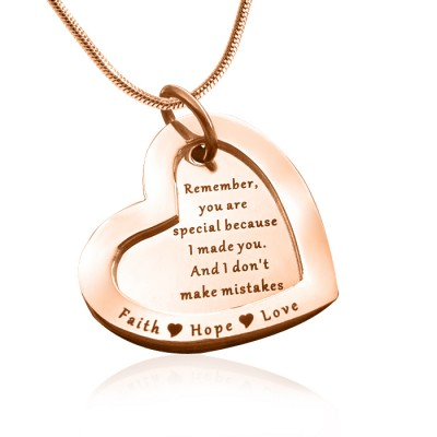 Personalised Love Forever Necklace - 18ct Rose Gold Plated - Name My Jewellery
