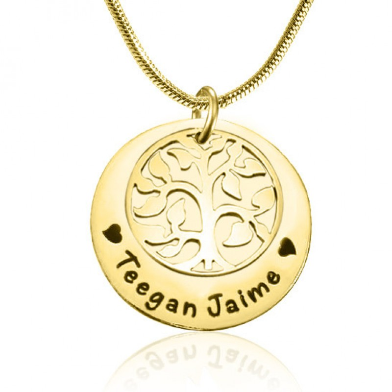 6c82a136f52ba Personalised My Family Tree Single Disc - 18ct Gold Plated - Name My  Jewellery
