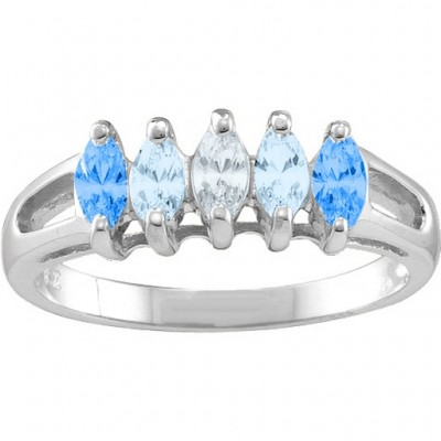 Tempest  2-7 Marquise Ring - Name My Jewellery