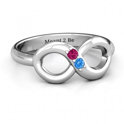 Twosome  Infinity Ring - Name My Jewellery