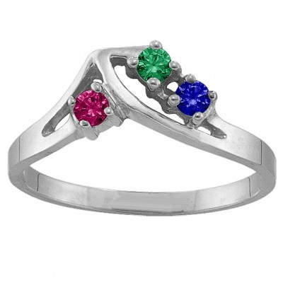 1-5 Stone Crest Ring  - Name My Jewellery