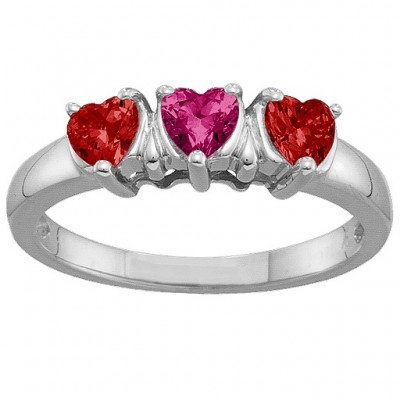 2-5 Hearts Ring - Name My Jewellery