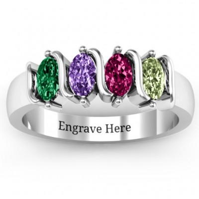 2-5 Oval Stones Ring  - Name My Jewellery
