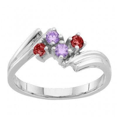 2-7 Winged Accents Ring - Name My Jewellery