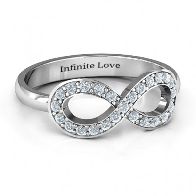 Accented Infinity Ring - Name My Jewellery
