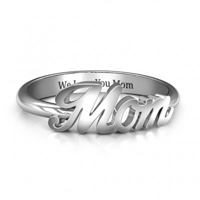 All About Mom Name Ring - Name My Jewellery