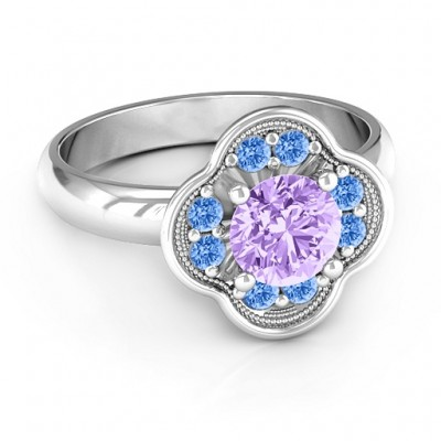 Blossoming Love Engagement Ring - Name My Jewellery