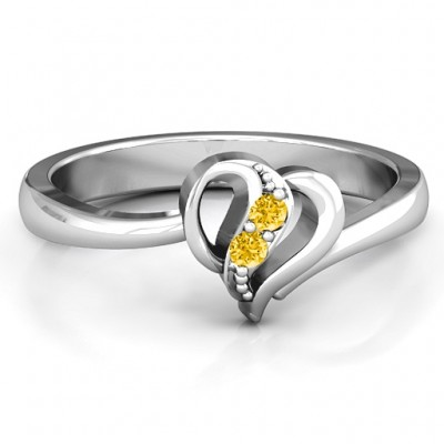 Centre Weave Fashion Heart Ring - Name My Jewellery