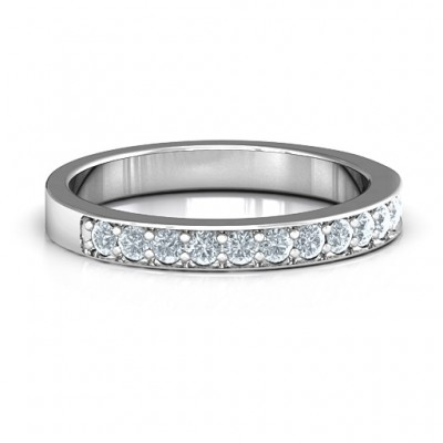 Classic Half Eternity Ring - Name My Jewellery