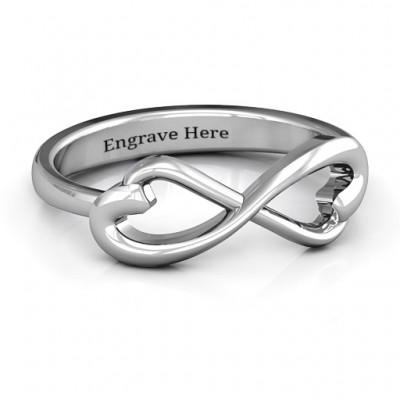 Classic Hearts Infinity Ring - Name My Jewellery