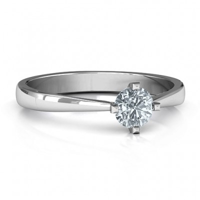 Classic Round Solitaire Ring - Name My Jewellery