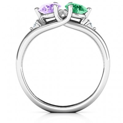 Darling Duo Double Gemstone Ring  - Name My Jewellery