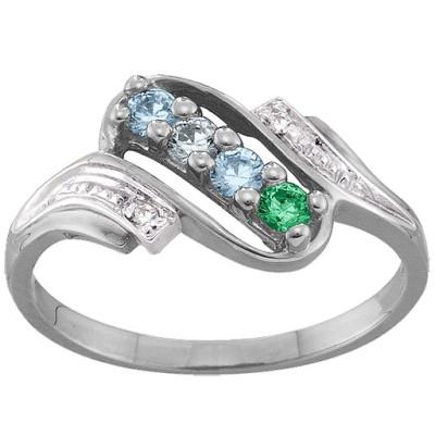 Diamond Accent 2-6 Stones Ring  - Name My Jewellery