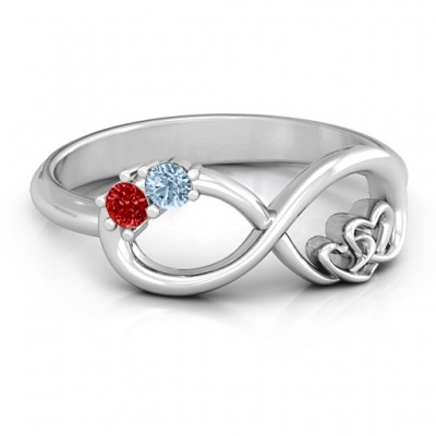 Double the Love Infinity Ring - Name My Jewellery