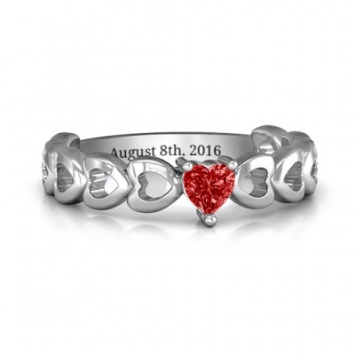 Enchanting Love Promise Ring - Name My Jewellery
