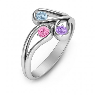 Eternal Elegance Three-Stone Ring  - Name My Jewellery