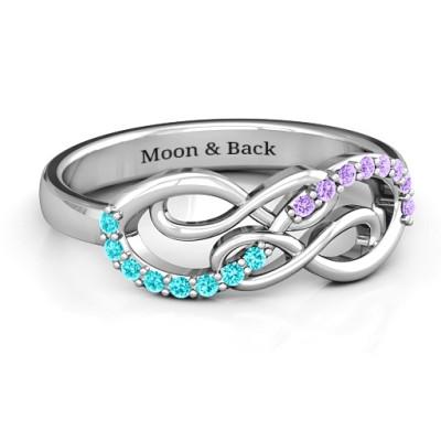 Everlasting Infinity Ring with Gemstones  - Name My Jewellery