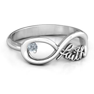 Faith Infinity Ring - Name My Jewellery
