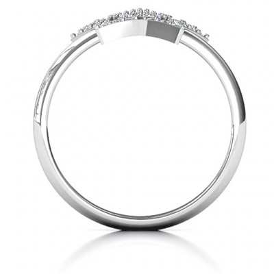 Floating Star with Halo Ring - Name My Jewellery