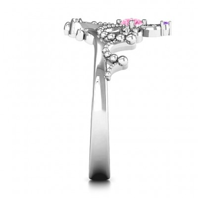 Forever And Always Tiara Ring - Name My Jewellery