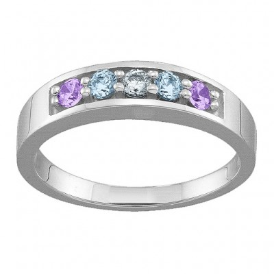 Geometric 3-6 Stones Ring  - Name My Jewellery