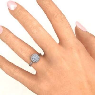 Halo of Love Ring - Name My Jewellery