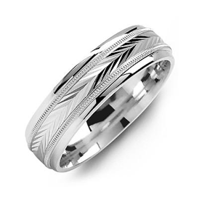 Harvest of Love Milgrain Men's Ring - Name My Jewellery