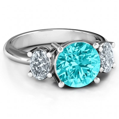 Impressive Three Stone Eternity Ring  - Name My Jewellery