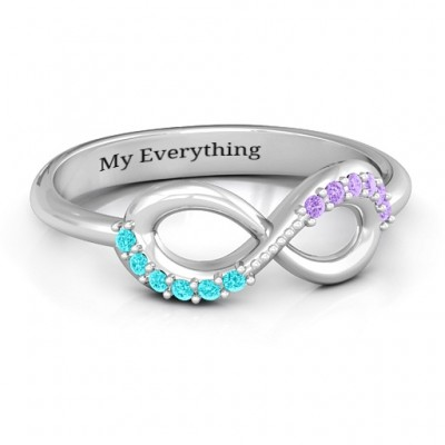 Infinity Accent Ring - Name My Jewellery