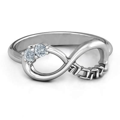 Infinity Ahava Ring - Name My Jewellery