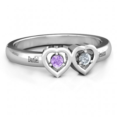Kissing Hearts Ring - Name My Jewellery