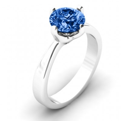 Large Stone Solitaire Ring  - Name My Jewellery